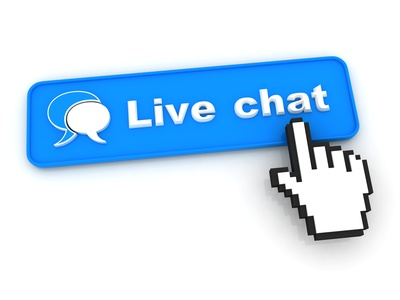 Live Chat Button with  Hand Shaped mouse Cursor